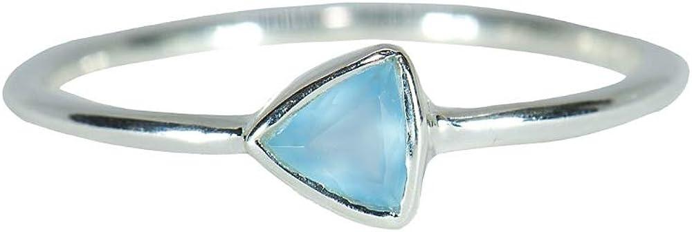 Pura Finally popular brand Vida Silver Max 40% OFF Triangle Chalcedony R Sterling .925 Ring