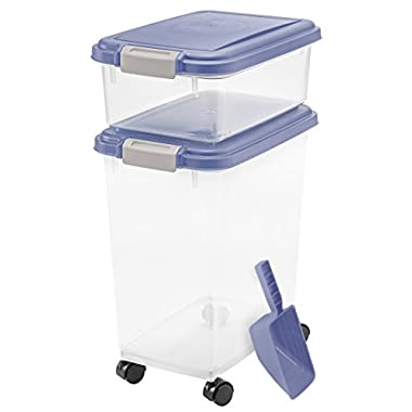 3- Piece Airtight Pet Food Storage Container Combo, Blue