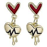 #N/D Pendientes de mujer en forma de corazón Electrocardiograma Delicados Elegantes Pendientes Pendientes Pendientes Pendientes Pendientes de Oído