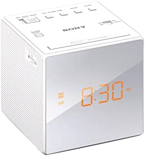 Sony Clock Radio, White (ICFC1W)