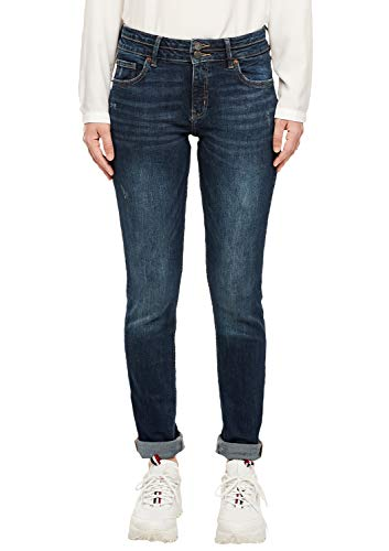 Q/S designed by Damen Catie Slim: Stretchdenim dark blue 44.32