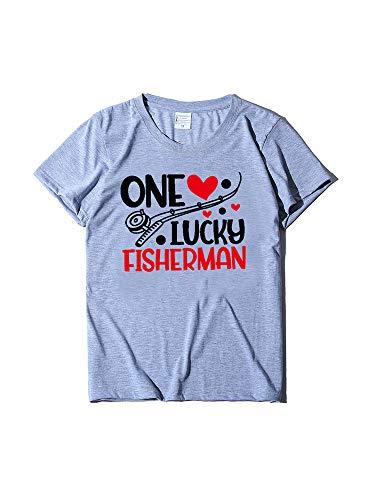 Grace&Nora Camisetas para parejas, estampado gráfico de letras a juego para el día de San Valentín para mujeres y hombres