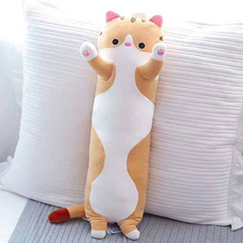 Plüsch lange gestreifte Beine Schlafkissen Bett super weiche Puppe Bär süßes Mädchen-brown||70CM