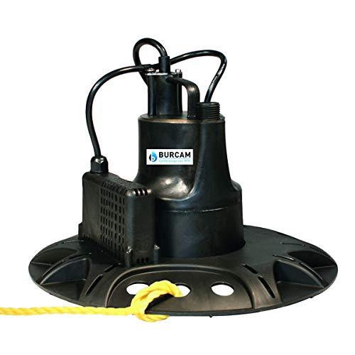 BURCAM 300536S 1/6 HP Automatic Pool Cover Pump, Black