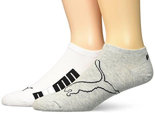 Puma Lifestyle Sneaker 2P, Calcetines hombre, paquete de 2, Blanco (white / grey / black), 39/42