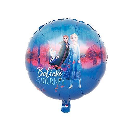 DHTOMC Globo 10pcsnew Princesa Foil Globos Baby Shower Girl Muñeco de Nieve Decoración de Fiesta de Cumpleaños Juguetes Niños Air Xping