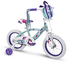 """This Quick Connect kid bike makes assembly fast and easy - follow these 4 simple steps to get riding in just minutes; insert fork and handlebar - fold pedals down until they click in place - insert seat and adjust 12"""" girls bike with removable traini..."""