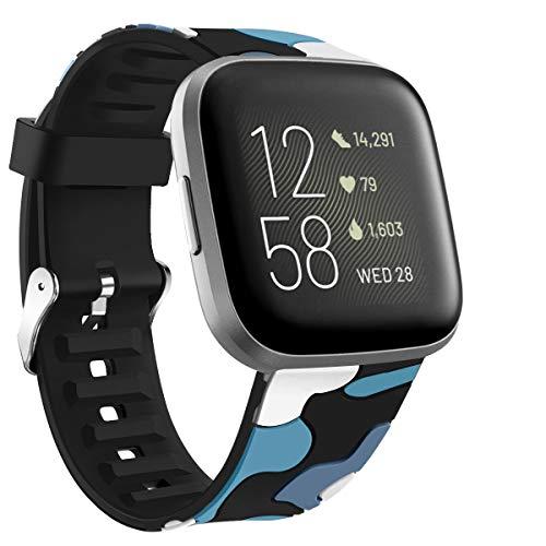Cinturino sportivo compatibile con Fitbit Versa 2 / Versa/Versa Lite Edition in morbido silicone, cinturino di ricambio per uomo e donna DE61010 (#4)