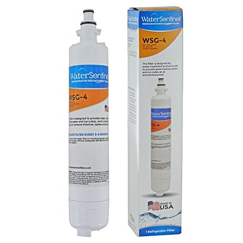 WaterSentinel WSG-4 Made in USA Refrigerator Replacement Filter: Fits GE RPWF