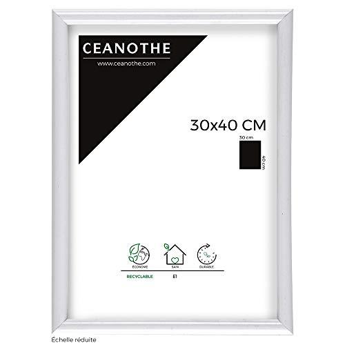 IMAGINE Cadre Photo Expo Blanc 30x40 cm, Résine Plastique - Marque française