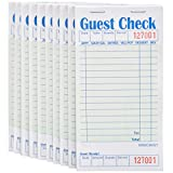Stock Your Home Guest Check Book (10 Books) 3.5' x 6.75' Server Note Pads and Waitress Order Pads - 50 Checks Per Book for Total 500 Guest Checks