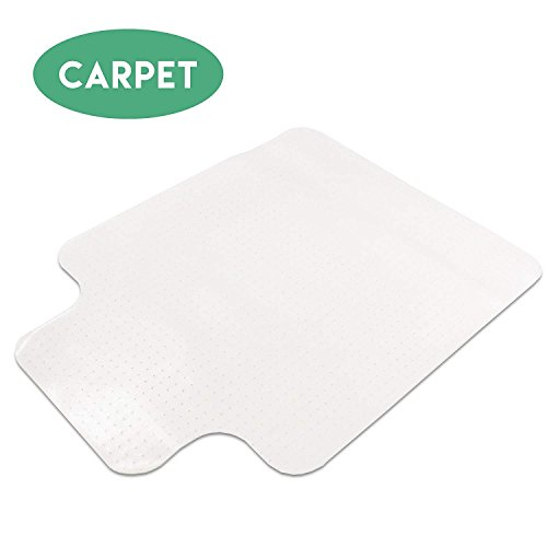 Carpet Chair Mat with Lip for Office Chairs 36 x 48 - Floor Mats for Computer Desk