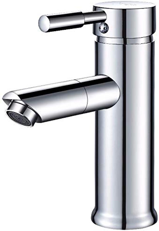 LIANTIAN Kupferner Hahnhahn des heien und kalten Wassers 360 Grad, der einzelnen Lochhahn dreht Waschraumarmaturen Waschtischarmaturen