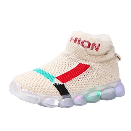 Makalon Unisex Kinder Leuchtschuhe Sportschuh Socken Schuhe Boots Stiefel für Jungen/Mädchen, Mode Leuchte Laufschuhe Mid Hohe Sneaker Fitnessschuhe Turnschuhe Licht Shoes Handballschuhe
