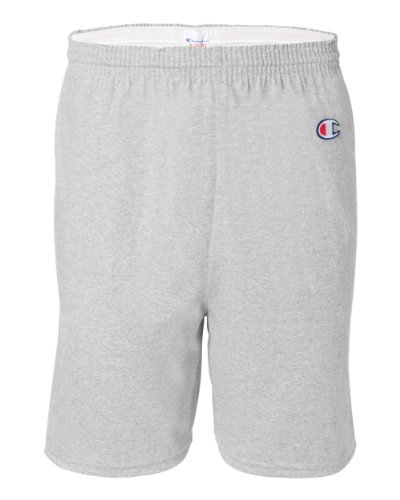Champion Men's 6-Inch Silver Gray Cotton Jersey Shorts - Medium