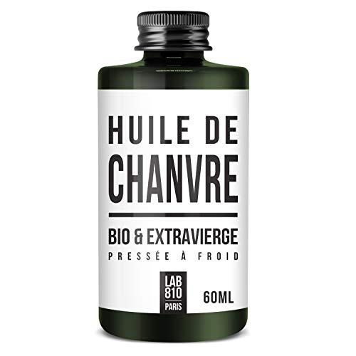 HUILE DE CHANVRE BIO 100% Pure et Naturelle, Pressée à Froid & Extra Vierge. Soin réparateur Cheveux, Anti-Age. Hydrate les cheveux et raffermit la Peau. Cannabis sativa Biologique (60ml)
