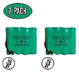 (2 Pack) 4.8v 2100mAh Ni-MH DSC-BATT2148V Battery WS4920HE WTK5504 17000153 4PH-H-AA2100-S-D22 DSC WKA5504