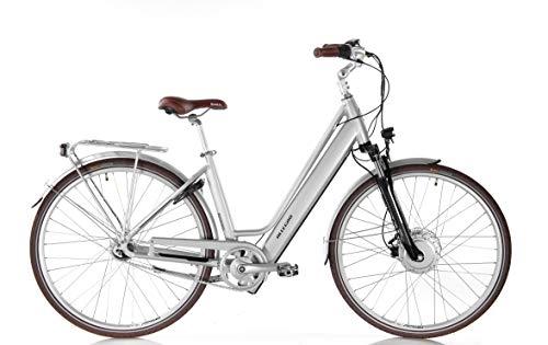 Allegro Invisible City Plus E-Bike Damen 46cm 28 Zoll, City Elektrofahrrad, Pedelec E-Fahrrad, Silber