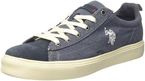 U.S. POLO ASSN. Herren TEBIO Sneaker, Denimblau, 43 EU