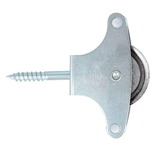 AMIG - Polea para tendederos de ropa   Acero   Roldana metálica de 39mm   Incluye tornillo de sujeción y guías