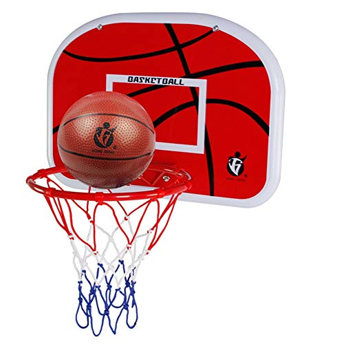 XALZ Standaard Rand Mini Basketbal Hoop Set Slam Over De Deur Opknoping Type Basketbal Board Indoor Basketbal Hoop met Bal Slaapkamer Badkamer Office Desktop