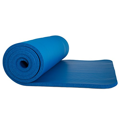 Wakeman Sleeping Pad, Lightweight Non Slip Foam Mat with Carry Strap Outdoors (Thick Mattress for Camping, Hiking, Yoga and Backpacking)(Dark Blue)