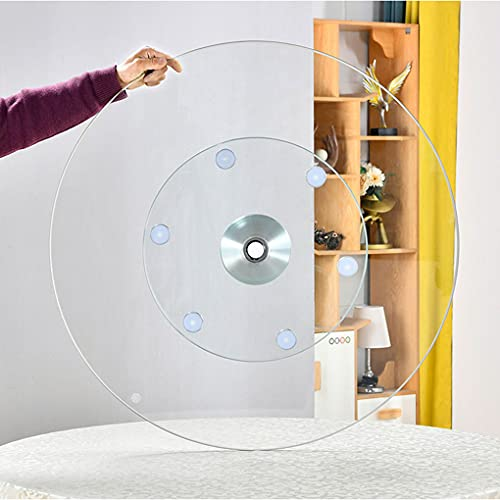 BJZP Mesa giratoria Lazy Susan de Vidrio Redonda, Soporte de exhibición de 360 ° para Trabajo Pesado, fácil de Compartir, para Fiestas de cumpleaños, reunión Familiar