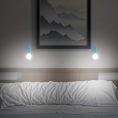 Lightess 4er Pull LightLampe Ziehlampe Camping Tragbare LED Leuchte Colors Glühbirnen Campinglampe Dekoratives Licht Pendelleuchte für Party Garten Schuppen Zelt Camping Dachboden Kleiderschrank - 7