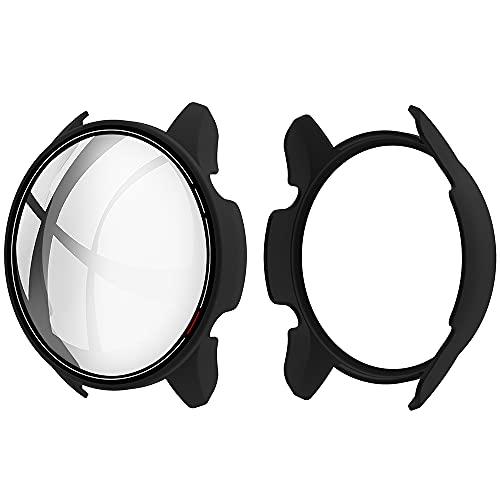 Akancy Custodia rigida compatibile con Xiaomi watch con pellicola protettiva, 9H Durezza Hart PC Case sottile in vetro temperato per Smart Xiaomi watch, nero