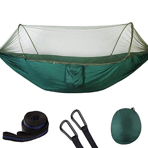 Outdoor Garden Cloth Anti-mug Hangmat automatisch Open Hanging bed slapen Swing 1-2 Persoon (Color : Green)