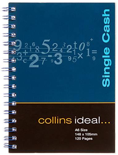 Collins Ideal Wiro - Cuaderno de anillas para contabilidad (tamaño A6, 120 páginas, hojas blancas)