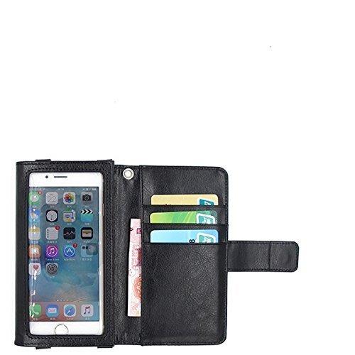 K-S-Trade Handy Hülle Kompatibel Mit Fujitsu Arrows U Schutz Hülle Case Mit Displayschutz/Schutzfolie Flip Cover Wallet Case Etui Hülle Schwarz