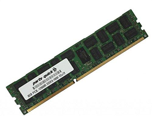 8GB DDR3 for Dell PowerEdge T320 Server PC3L-12800 1600MHz ECC Registered Low Voltage DIMM (PARTS-QUICK Brand)