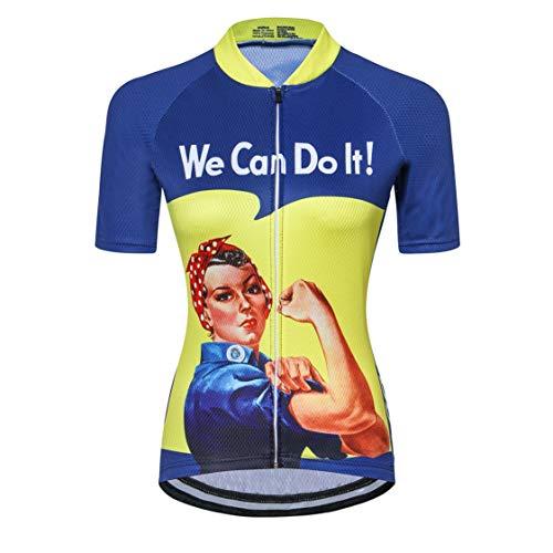 Maillot de Ciclismo para Mujer con Cremallera Manga Corta Ropa de Ciclismo...