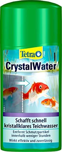 Tetra Pond CrystalWater 500 ml, Rimuove Efficacemente le Particelle di Sporcizia Sospese e Migliora la Trasparenza dell'Acqua del Laghetto