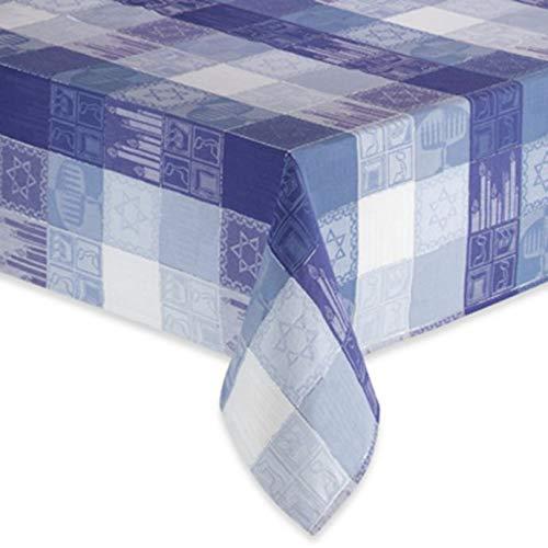 BED BATH & BEYOND Sam Hedaya Hanukkah Tablecloth 60' X 120'