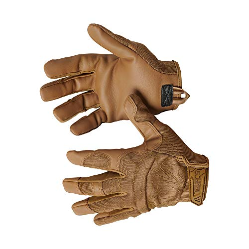 5.11 High Abrasion Tac Glove Men's Military Full Finger High Abrasion Tactical Gloves, Style 59371, Kangaroo, XX-Large