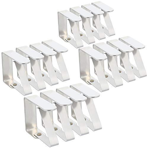 COM-FOUR® 16x premium tafelkleedklem - tafelklemmen van roestvrij staal - tafelkleedklem roestvrij voor binnen en buiten