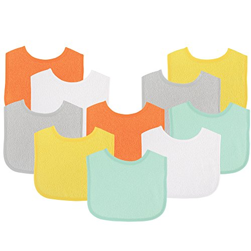 Luvable Friends Unisex Baby Cotton Terry Bibs Pack $8.97 (40% Off)