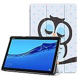 Acelive für Huawei M5 Lite Hülle, PU Leder Flip Schutzhülle mit Auto Schlaf/Wach Funktion Hülle Tasche mit Ständerfunktion für Huawei MediaPad M5 Lite 10 10.1 Zoll 2018