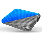 NUVO ACS Gel Seat Cushion - Relieves Back Pressure -for Office Chair, Wheelchair, Home - Enhanced Luxury Chair Pad Comfort Honeycomb Design Absorbs Pressure Gel Seat Cushion (16141.5 inch)