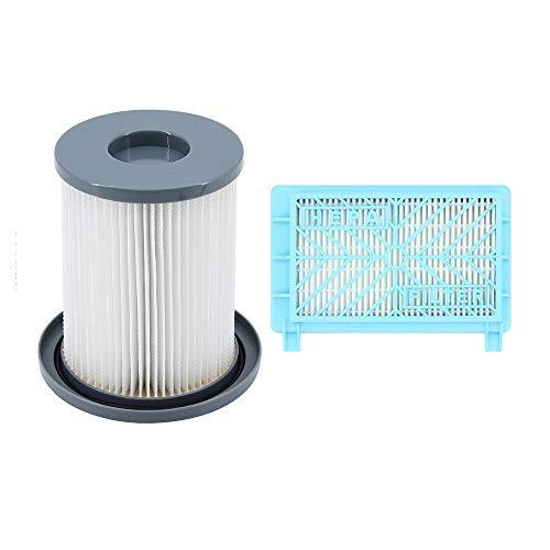DingGreat 2Pcs filtros de repuesto, Filtro de Polvo y Filtro de Escape para Aspiradora Philips FC8732 FC8733 FC8734 FC8736 FC8738 FC8740 FC8748