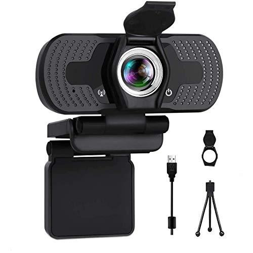 Webcam Full HD 1080P Videocamere con webcam Copertina USB Webcam con microfono integrato, Plug and Play per desktop Notebook PC, ideale per conferenze, videochiamate in diretta e videochiamate 05