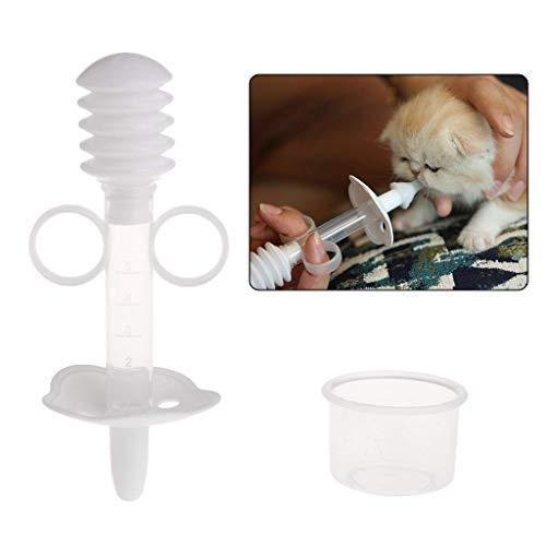 ペット用 シリンジ 注射器 投薬器 流動食 計量カップ付き 犬 子猫用 水 授乳 離乳 介護 栄養 薬剤プッシャー フィーダー シリンジ 哺乳器 フィーダーーダー フィーダー シリンジ