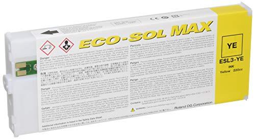 Roland ECO-SOL MAX esl3-ye disolvente cartucho de tinta 220ml amarillo por Roland DG