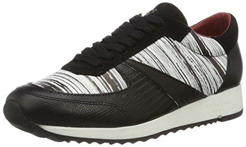 Liebeskind Berlin Damen LF173100 Bmono Sneakers, Mehrfarbig (ivory White/Schwarz), 39 EU