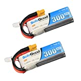 SoloGood 300mAh 2S LiPo Battery FPV Battery 7.6V 80C with XT30 Plug for Tiny Whoop Brushless Whoop FPV Quad Racing Drone