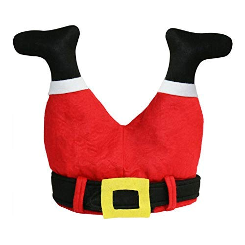 Halloween Hat 1 unids Funny Christmas Red Caps Santa Claus Piernas Pantalones Novedad Peluche Hats Unisex Cap Toys For Christmas Halloween Party
