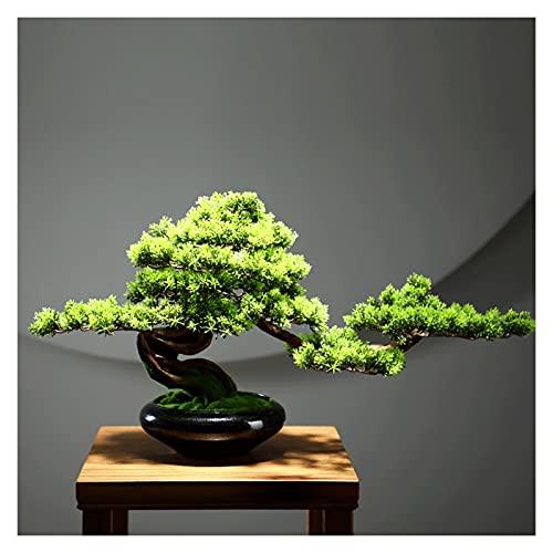 Bonsai artificiale Pianta artificiale Accogliente accoglienza Bonsai, 13 pollici Elevata pianta verde Pianta in vaso in vaso, Faux Tree per il portico del soggiorno Zen Simulazione albero pianta