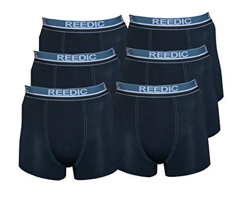 Reedic Herren Boxershorts, Modal, 6er Pack, Größe Medium (M), Farbe 6X dunkelblau